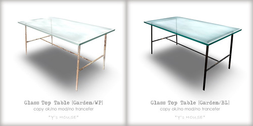 GlassTopTable for iTuTu Summer Festival
