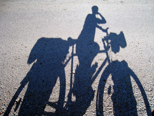 Cycling shadow near Mionica