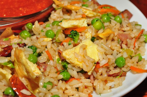 Mmm...ham fried rice