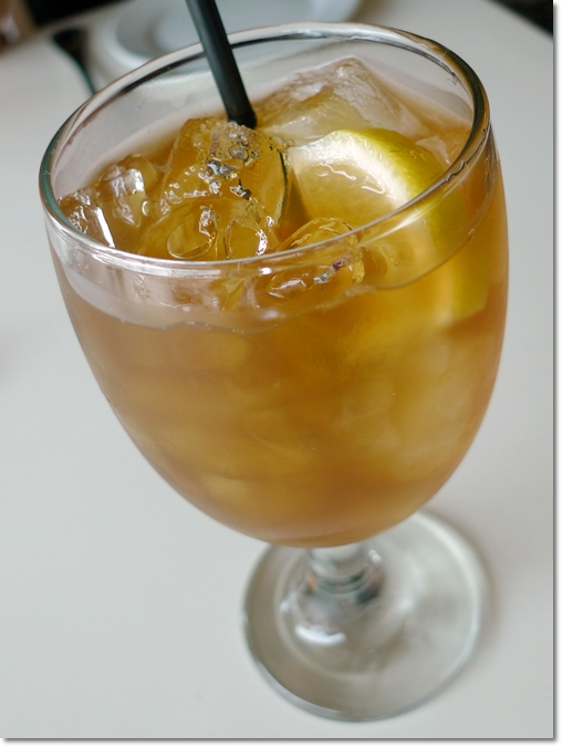 Iced Lemon Tea with Sour Plum