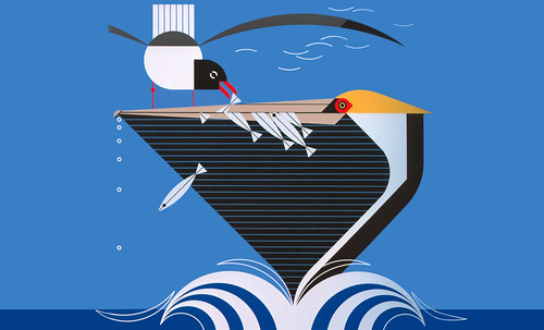 "Charley Harper • <a style=""font-size:0.8em;"" href=""https://www.flickr.com/photos/30735181@N00/4848319418/"" target=""_blank"">View on Flickr</a>"