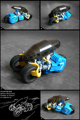 Funtrike (Pierre E Fieschi) Tags: car bike lego pierre tricycle racing future moto vehicle futuristic racer fieschi funtrike