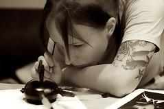 Brittany 3. (ianmunroe) Tags: painting concentration drawing pinstriping inthezone keepingmindactive