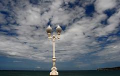 blue vs blue (rakelilla/robin) Tags: blue sea sky españa azul mar spain nikon farola cielo xixon asturies cantabrico marcantabrico gijo sturias d300s nikond300s cantabrico´ssea paseodegijon