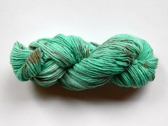 3.5 oz Mint Chocolate Chip on single ply merino   *ice cream series*