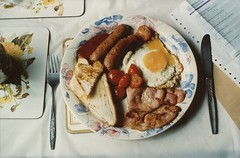 Breakfast (Adele M. Reed) Tags: food slr film home breakfast 35mm kodak 200 analogue nofi photooftheday prakticanova