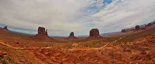 Monument Valley - a fisheye view