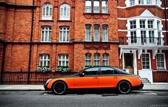 Maybach 57S (Laurens Grim) Tags: orange black color speed photography nikon grim engine arab rims laurens supercar matte 2010 horsepower londen 18105 maybach d90 57s
