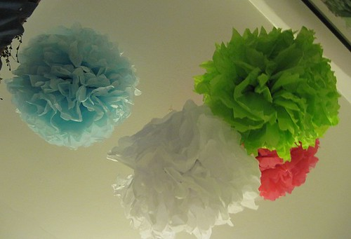 paper flowers instructions. tissue paper flowers