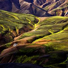 Iceland - Landmannalaugar (Mathieu Noel) Tags: orange green colors yellow volcano iceland couleurs vert ne rhyolite sland islande lave jau volcan landmannalaugar vapeur souffre brennisteinsalda sourceschaudes solfatares inspiredbyiceland laugarhraun