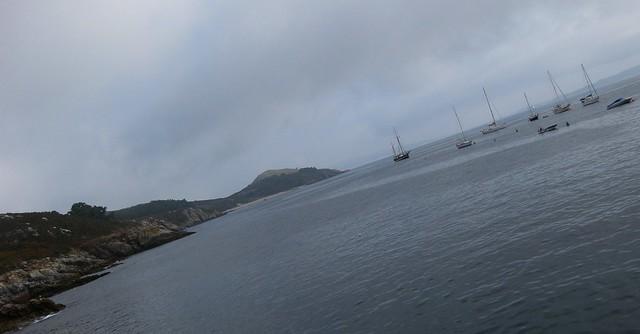 Ons norte, coa praia de Melide