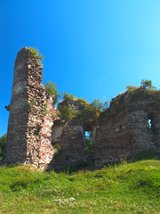 Ruine des Schlosses in Butschatsch (Deutscher Friedensstifter) Tags: ukraine ruine galicia architektur schloss turm ukraina festung      galicja galizien   buchach  buczacz      oblastternopil  butschatsch