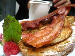 Bacon and banana breakfast