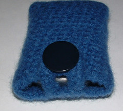Felted Cell Phone Cozy Closeup