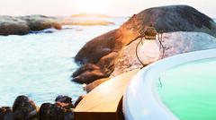 Sidobord till badtunna (Skärgårdstunnan) Tags: pool jacuzzi hottub spa badtunna badtunnor spabad bubbelpool vedeldad utomhusbad
