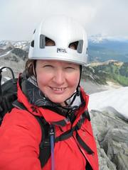 Cypress Peak descent.. (iwona_kellie) Tags: friends summer snow canada rock britishcolumbia anniversary rocky glacier celebration summit scramble cypresspeak iwonakellie roecreek squamishcheakamusdivide 2083meters returnafter4years