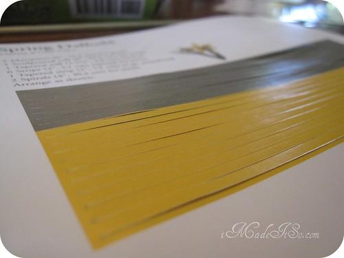 quilling paper calendar