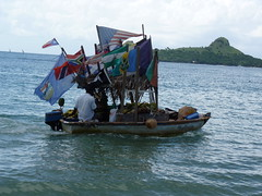 The Friutman! (Pink$oda) Tags: sea fruit boat stlucia fruitman