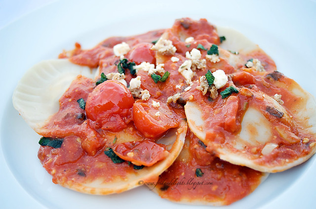 feta cheese ravioli