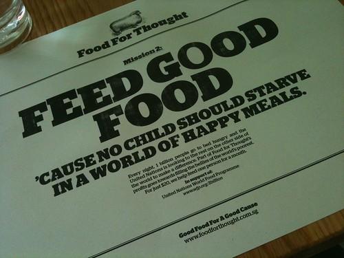 feel good food...我很喜歡的主題餐廳