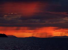 Red Rain (Uncle Buddha) Tags: sunset canada rain vancouver bc britishcolumbia columbia british englishbay