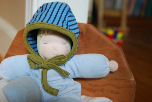 sweet pea pilot cap on doll