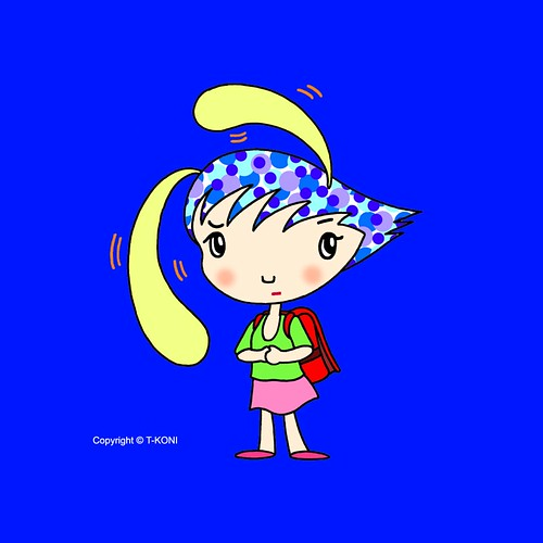 iPad wallpapers - Funky girl cartoon character 「Freedom is free」