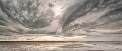 Sky panorama, Beckfoot (John Gravett LPH) Tags: panorama clouds coast seascapes cumbria lenticular hdr solway