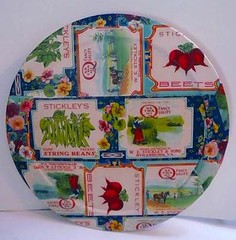 lazy susan Decoupage (Vintage Reinvented) Tags: wood vegatables decoupage vintagelabels