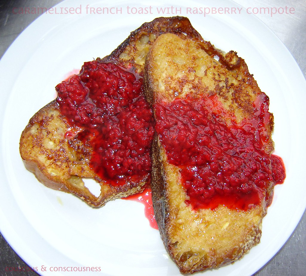 Caramelised French Toast with Raspberry Compote 1, cropped & edited