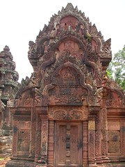 Famos red sandstone temple