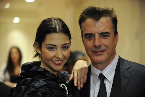 Chris Noth at the Mercedes-Benz Fashion Week at The Plaza Hotel