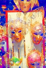 Venetian Masks (gll) Tags: carnival pink venice costumes red color colors gold intense purple vibrant vivid surreal masks carnivale venetian