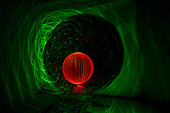 All Woven Up (TTYL8R) Tags: red lightpainting austin texas tx orb lightart lapp greenlaserpointer lightartperformancephotography atxlightjunkies pixelatedlight
