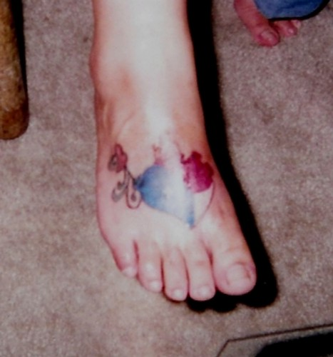 Heart w/ texas flag colors · Tats by King James posted a photo: