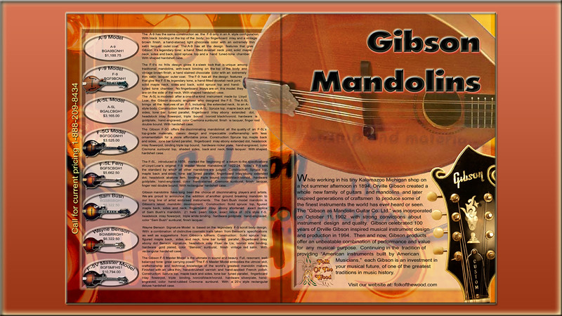 Concept Gibson Mandolins