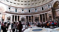 Inside the Pantheon (1yen) Tags: travel italy stpeters rome roma travelling photoshop europe pantheon panoramic trevifountain fontanaditrevi stpetersbasilica 4exp trevirione