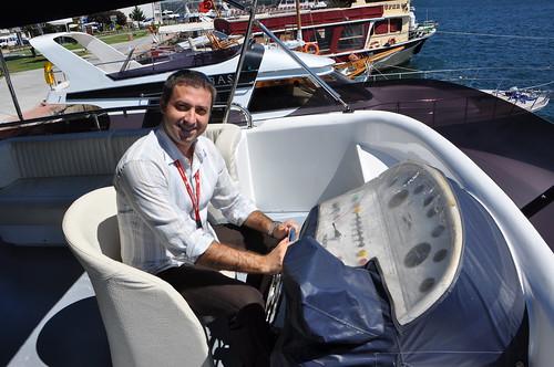 Hakan Gurger en el barco