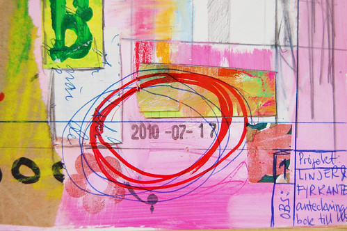 Art Journal detail: it is dated like this