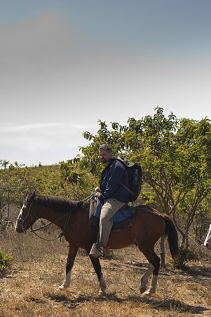 horseback riding on Isabela