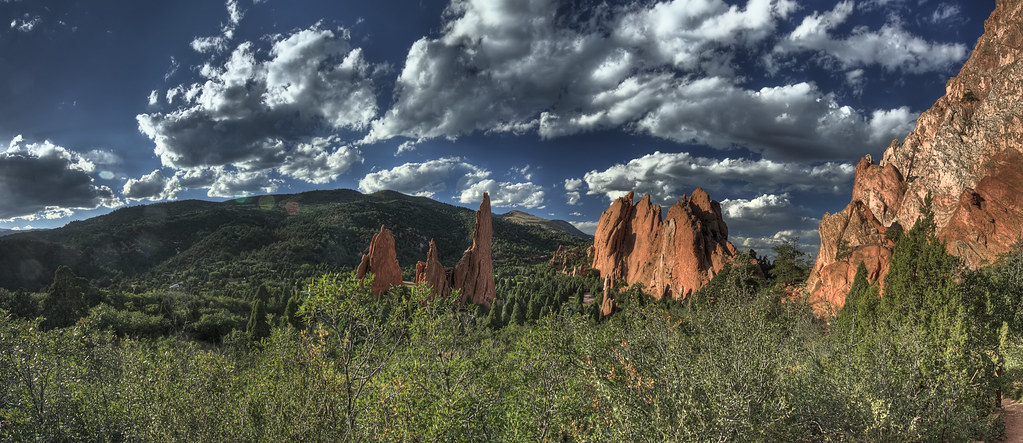 Columns of Red Rock