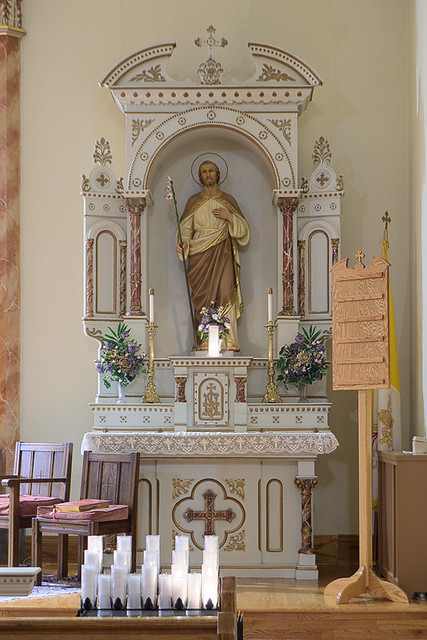 Saint Joseph Roman Catholic Church, in Josephville, Missouri, USA - Joseph's altar