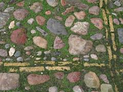 cobbles soup (miss Tempel) Tags: green moss groen stones slabs straat stenen suface plaveisel