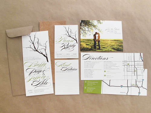 and kathleen | wedding invitation: inspired by nature, Wedding invitations