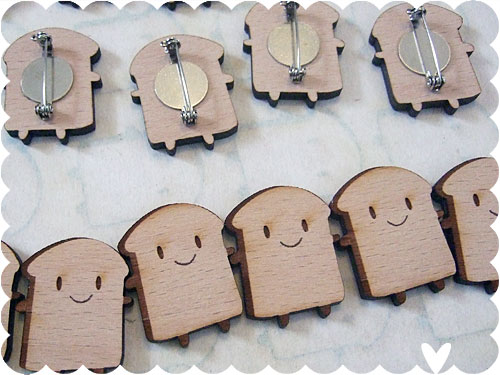 Bread Slice Brooches
