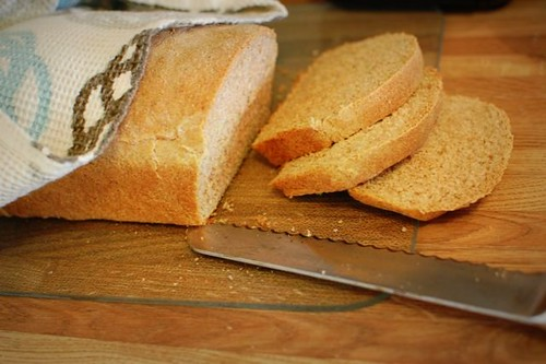 homemade sliced bread