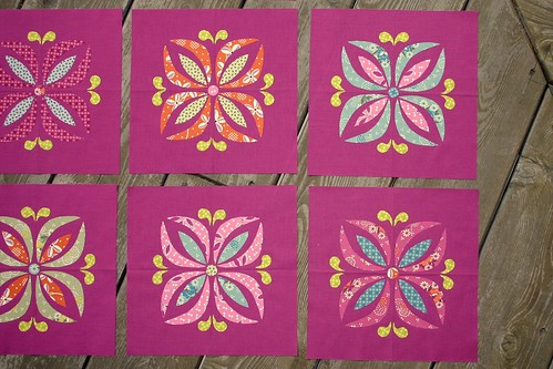Floral Medallion blocks