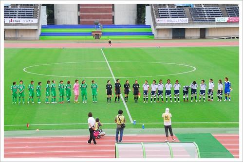 試合前の整列@日テレ・ベレーザ VS INAC神戸_201008