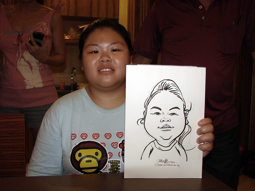 Caricature live sketching for birthday party 11092010 - 9