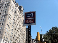 (Shane Henderson) Tags: newyorkcity blue trees sky sign architecture theberesford donthonk 350penalty